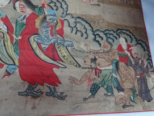 Le Jijiao shen 鷄脚神 et son épouse mènent les morts aux enfers